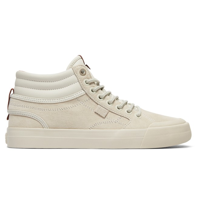 0 Evan Hi - High-Top Leather Shoes for Women White ADJS300189 DC Shoes