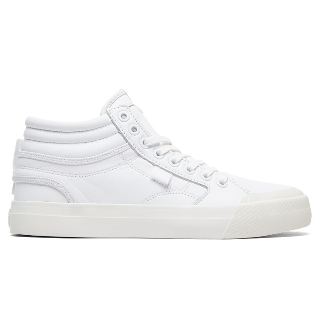 0 Women's Evan Hi High-Top Leather Shoes White ADJS300189 DC Shoes