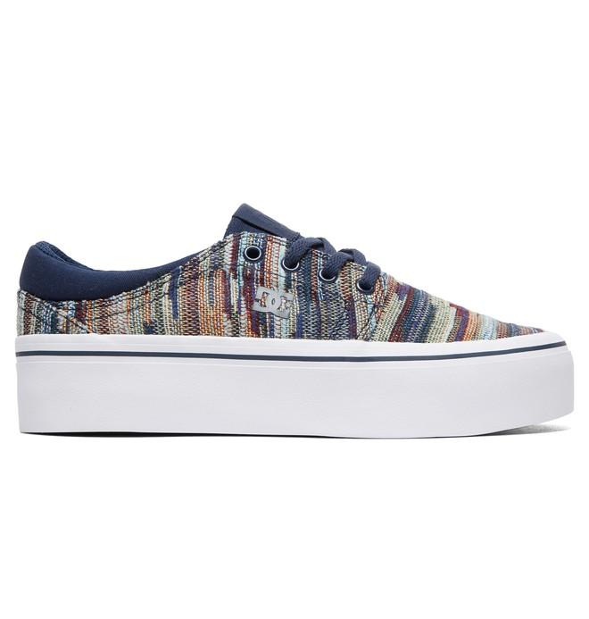 0 Zapatos de Piel con Plataforma LE TX Trase para Mujer Azul ADJS300213 DC Shoes