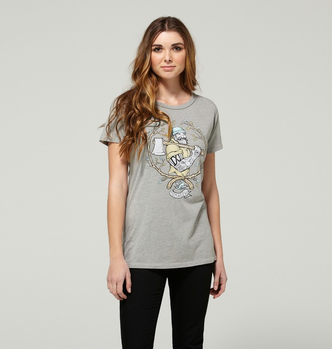 0 Women's Grizzly Charm Tee  ADJZT00043 DC Shoes