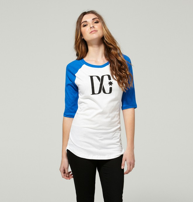 0 Women's Baseball T-Star Shirt  ADJZT00057 DC Shoes