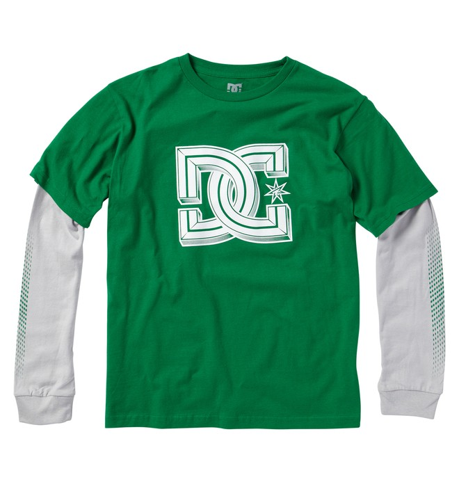 0 Kid's Krossed 2Fer Tee  ADKZT00103 DC Shoes
