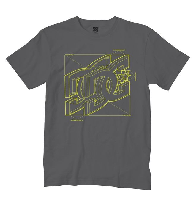 0 Boy's Schematics Tee  ADKZT00111 DC Shoes