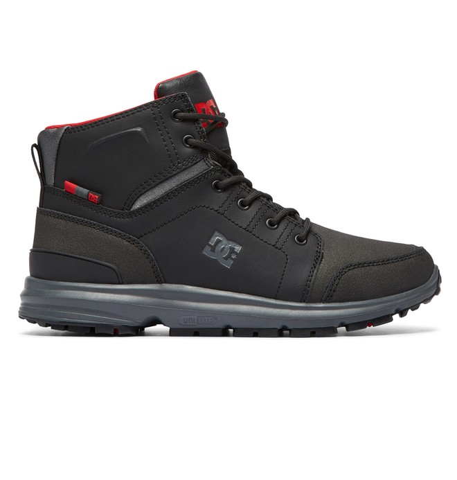 0 Torstein Lace-Up Leather Boots Black ADMB700008 DC Shoes