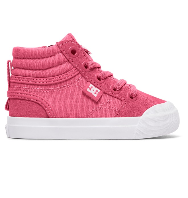 0 Toddler Evan Hi High Top Shoes Pink ADOS300025 DC Shoes