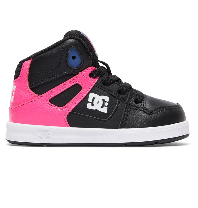 0 Toddler Rebound UL Mid Top Shoes Pink ADOS700026 DC Shoes