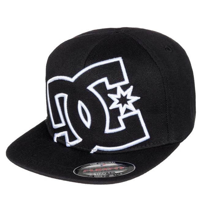 0 Kid's 2-7 Ya Heard Flexfit Hat Black ADTHA03000 DC Shoes