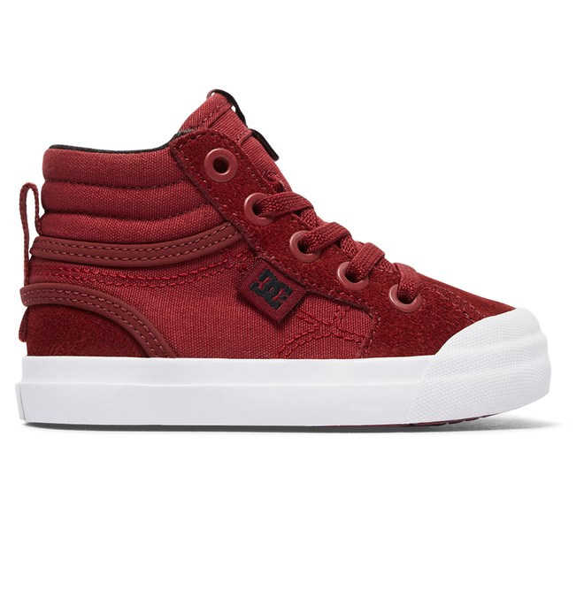 0 Toddler Evan Hi High Top Shoes Red ADTS300023 DC Shoes
