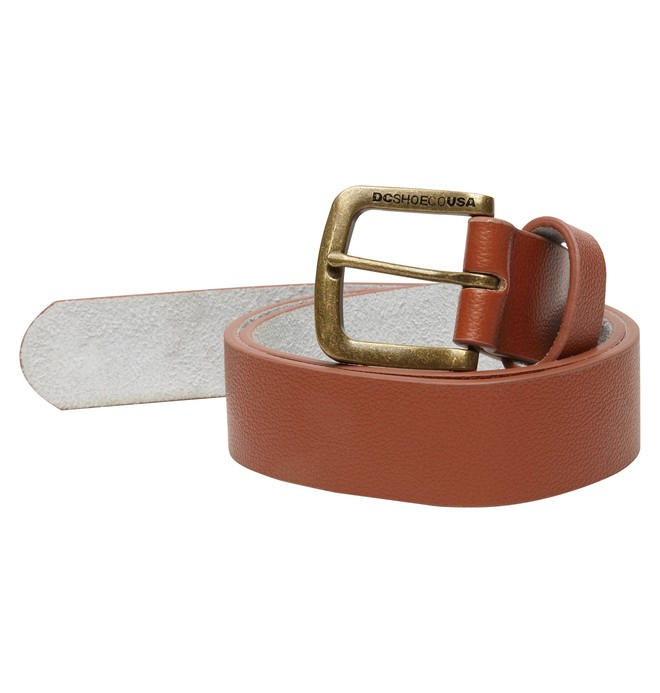 0 Men's Star Leather Belt  ADYAA00021 DC Shoes