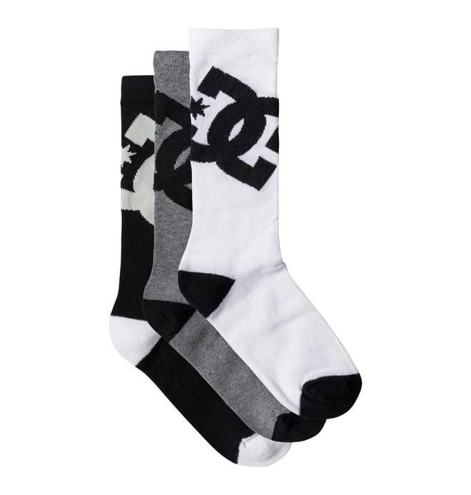 0 Men's DC 6 Crew Socks, 3 Pack  ADYAA03047 DC Shoes