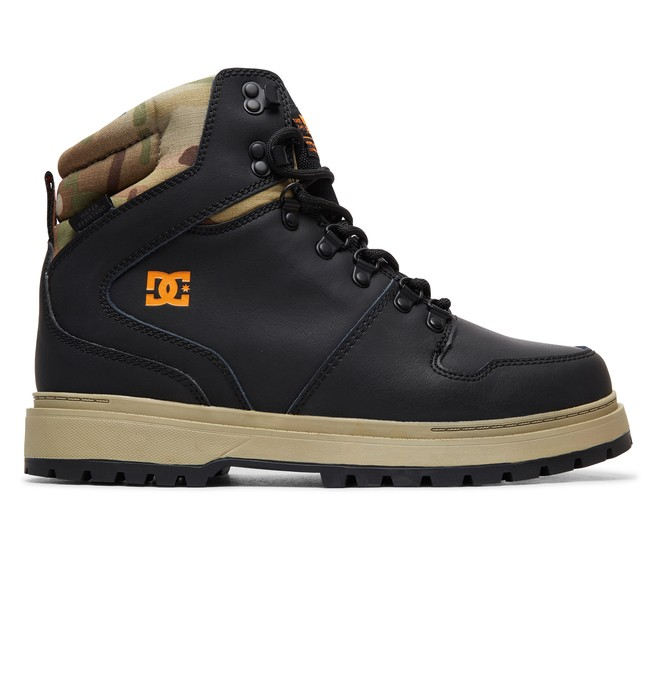 0 Peary Leather Boots Black ADYB700022 DC Shoes