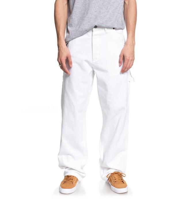 0 Men's Core Carpenter Jeans White ADYDP03016 DC Shoes