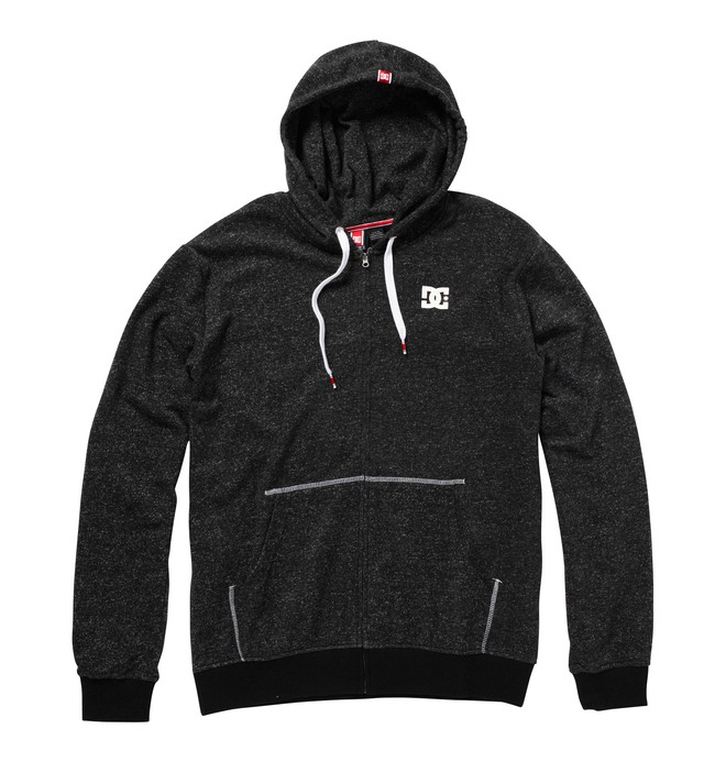 0 Men's Rob Dyrdek Staple Zip Up Hooded Sweatshirt  ADYFT00016 DC Shoes