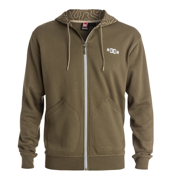 0 RD Topo Map - Zip-Up Hoodie  ADYFT03092 DC Shoes