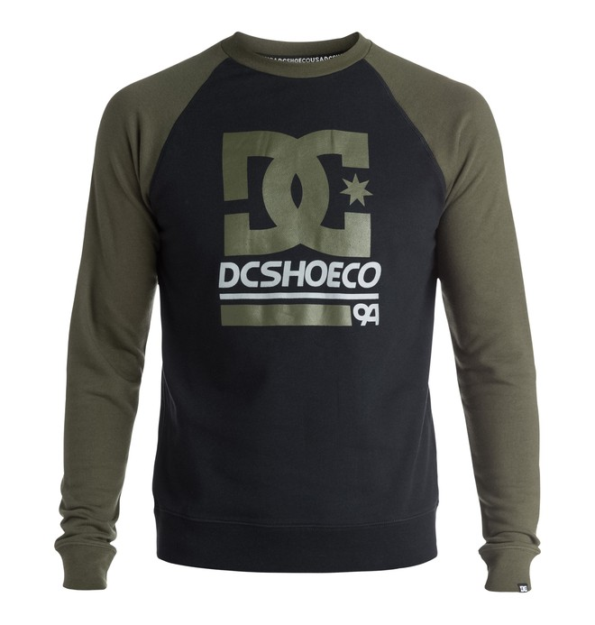 0 Men's DC Rail Raglan Sweatshirt  ADYFT03150 DC Shoes