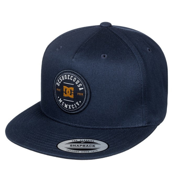 0 Men's Simple Sam Snapback Hat Blue ADYHA03517 DC Shoes