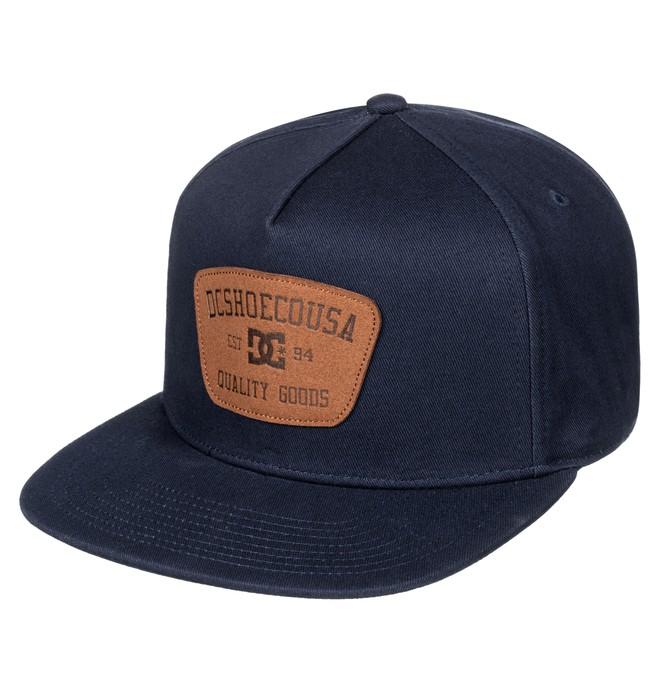 0 Men's Rikers Snapback Hat Blue ADYHA03523 DC Shoes
