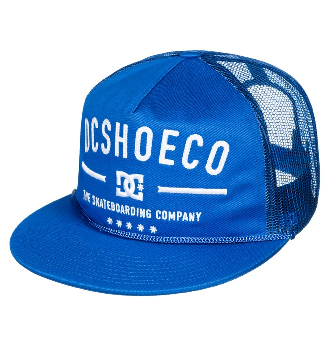 0 Men's Wall Bitten Trucker Hat Blue ADYHA03542 DC Shoes