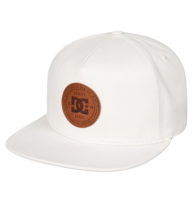 0 Men's Proceeder Snapback Hat White ADYHA03543 DC Shoes