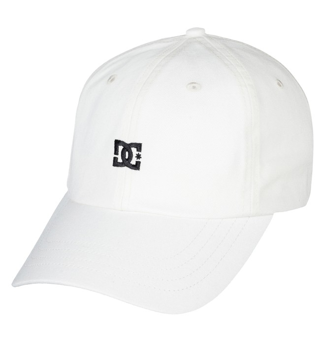 0 Men's Uncle Fred Dad Hat White ADYHA03546 DC Shoes