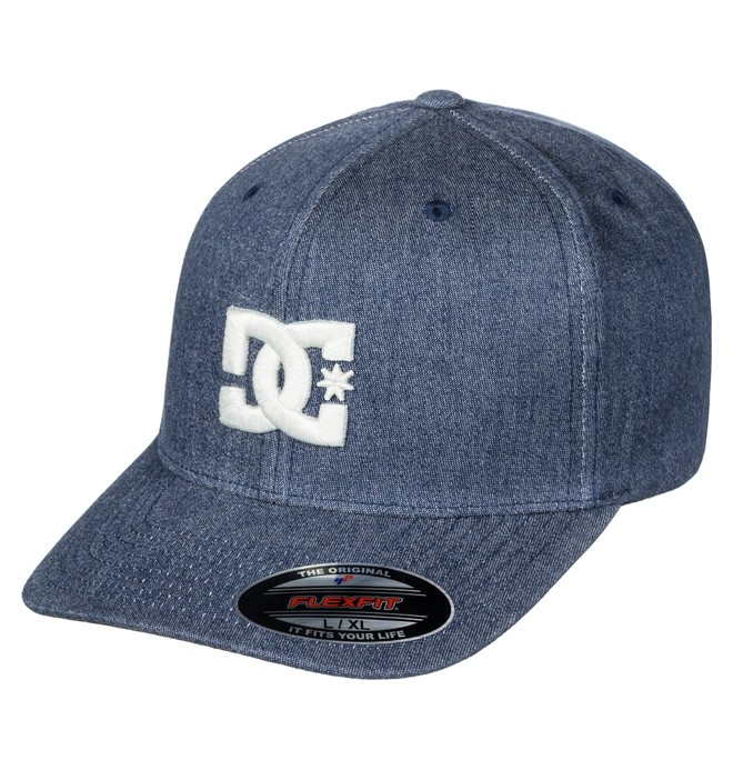 0 Men's Capstar TX Flexfit Hat Blue ADYHA03561 DC Shoes