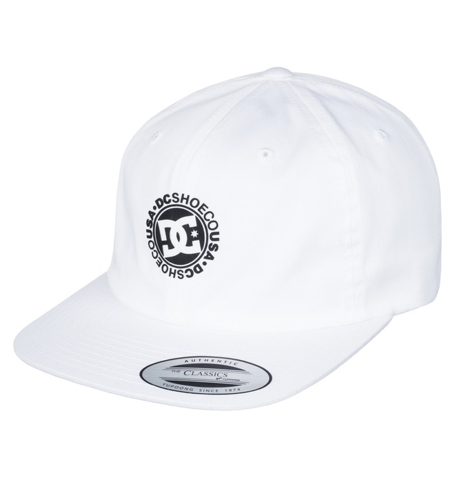 0 Men's Core Twill Dad Hat White ADYHA03564 DC Shoes