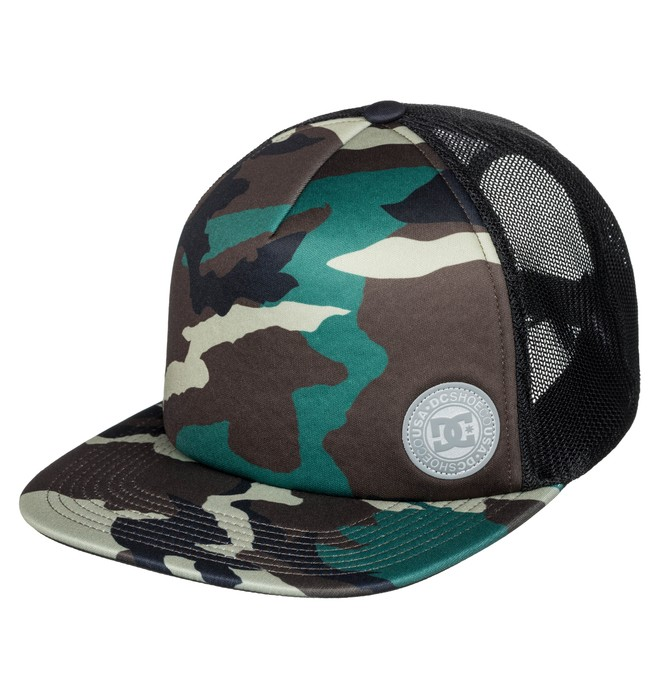 0 Men's Balderson Trucker Hat Green ADYHA03628 DC Shoes