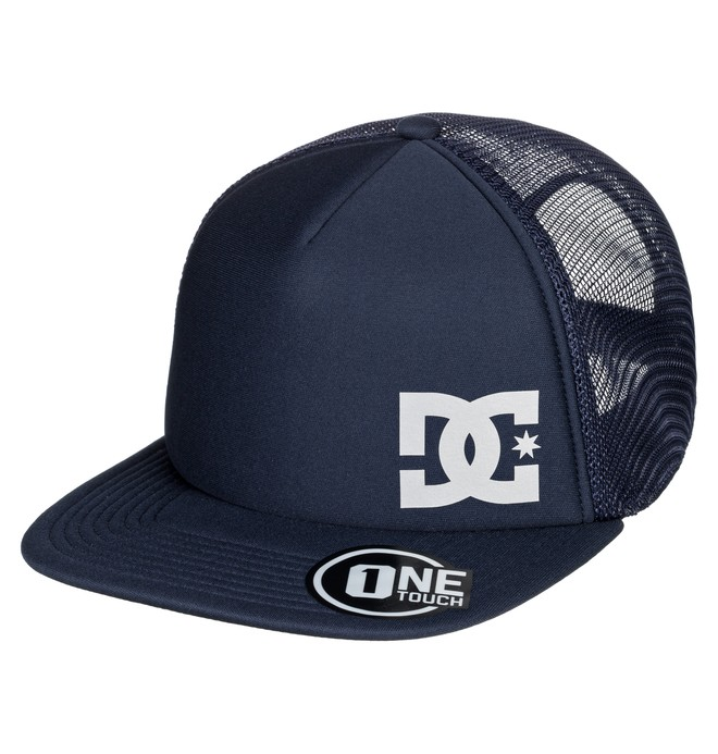 0 Men's Greeters Trucker Hat Blue ADYHA03638 DC Shoes