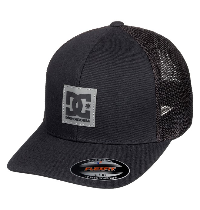 0 Mesher Flexfit® Trucker Hat Black ADYHA03761 DC Shoes