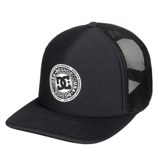 0 Vested Up Trucker Hat Black ADYHA03763 DC Shoes