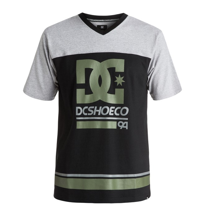 0 Men's DC Rail Stripe Hockey Tee  ADYKT03087 DC Shoes