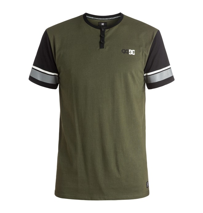 0 Men's DC Physed 94 Short Sleeve Henley Tee  ADYKT03088 DC Shoes