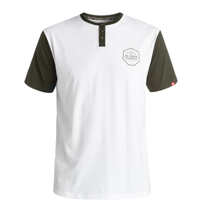 0 Hombres Camiseta Henley 7 Strikes  ADYKT03091 DC Shoes