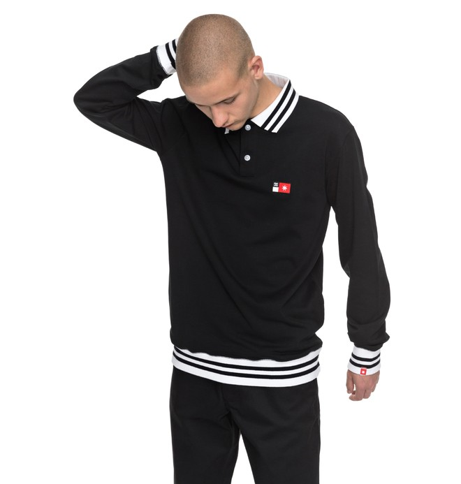 0 Men's Skate Long Sleeve Polo Shirt  ADYKT03106 DC Shoes