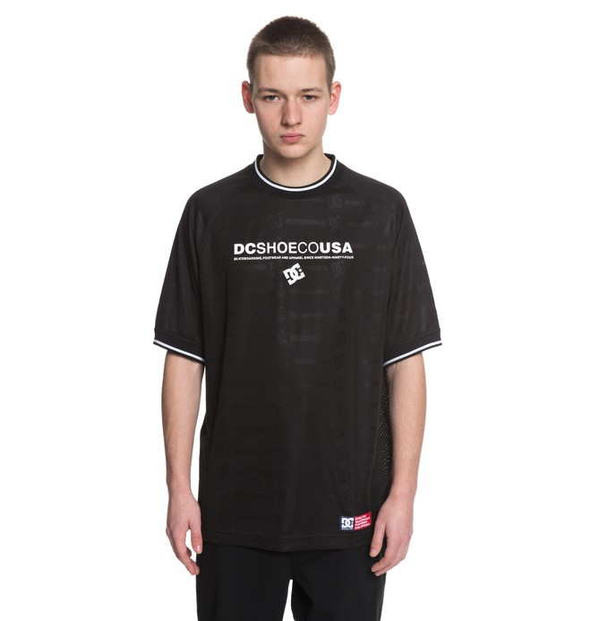 0 Wes Soccer - Football Jersey for Men Black ADYKT03108 DC Shoes