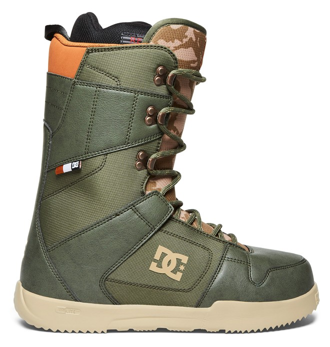 0 Men's Phase Lace Up Snowboard Boots Beige ADYO200035 DC Shoes