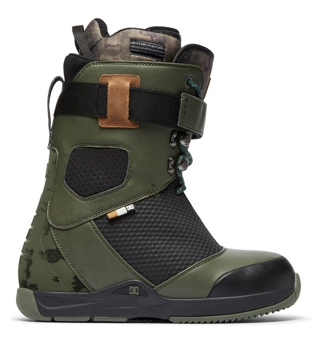 0 Tucknee Lace-Up Snowboard Boots Green ADYO200039 DC Shoes
