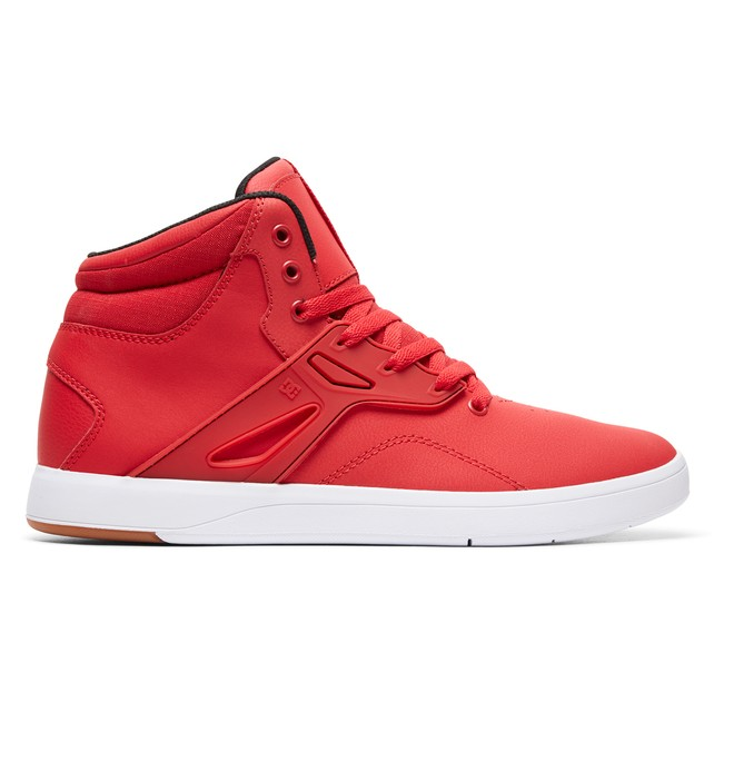 0 Men's Frequency High-Top Shoes Red ADYS100410 DC Shoes