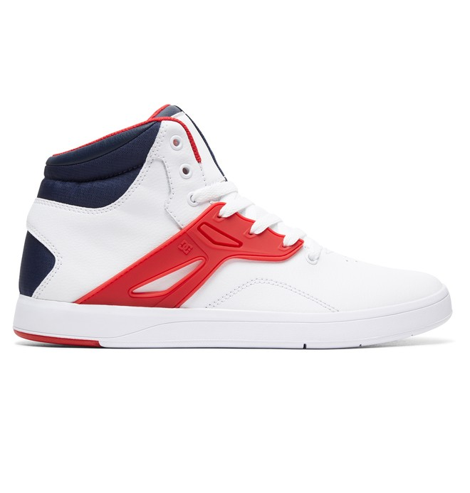 0 Men's Frequency High-Top Shoes White ADYS100410 DC Shoes