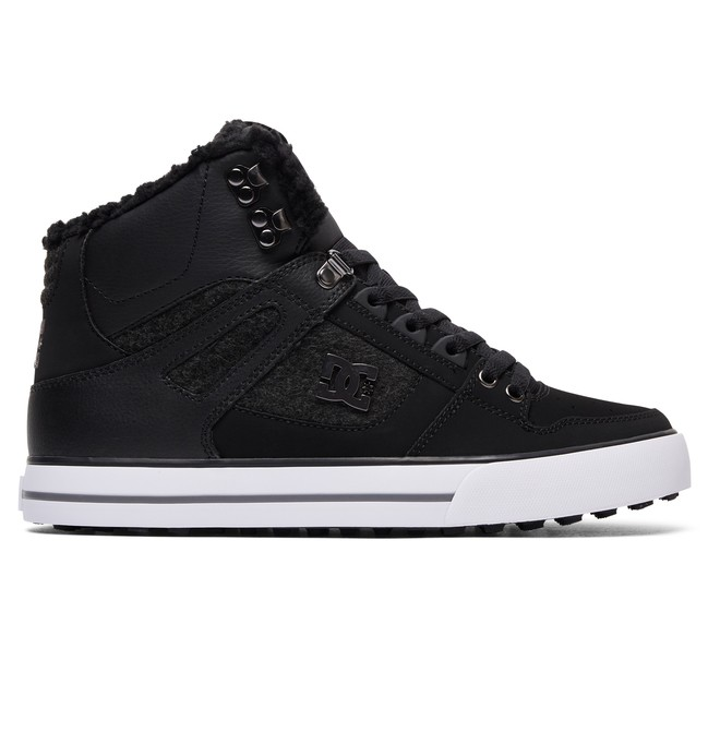 0 Men's Spartan High WC WNT High Top Shoes Black ADYS400005 DC Shoes