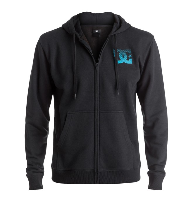 0 Men's Way Back Circle Zipped Hoodie  ADYSF03014 DC Shoes
