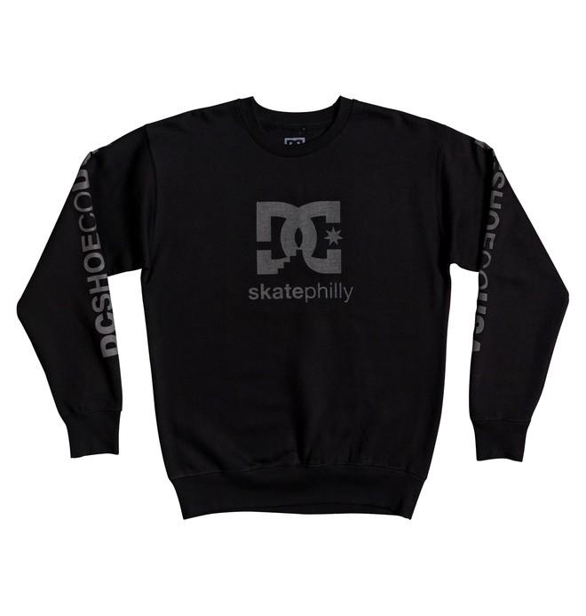 0 Skate Philly Sweatshirt Black ADYSF03024 DC Shoes