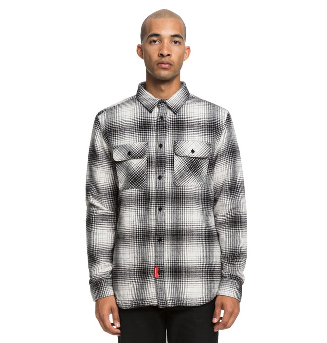 0 Ombre Flannel Long Sleeve Shirt Black ADYWT03065 DC Shoes