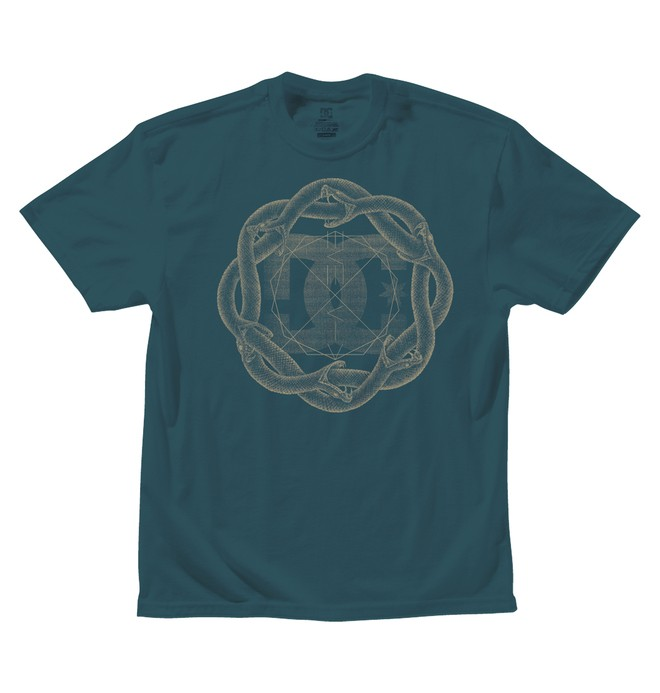 0 Men's Serpent Coil Tee  ADYZT00420 DC Shoes