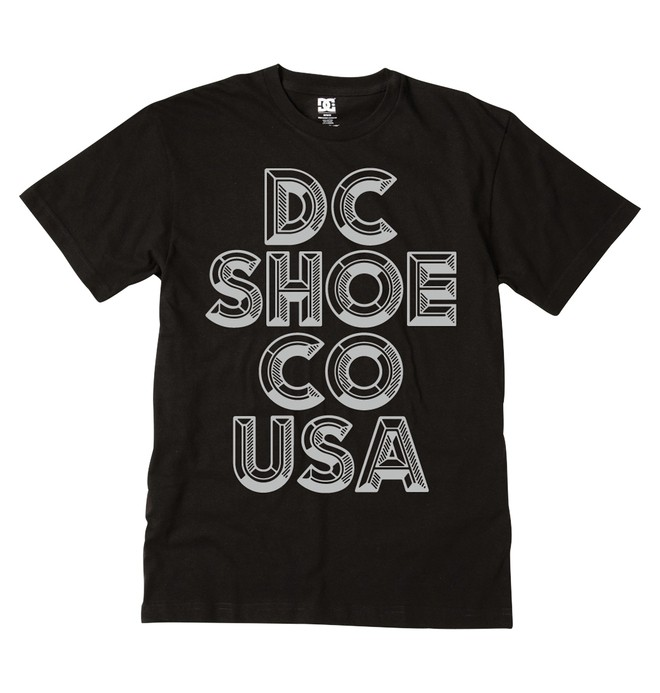 0 Men's Lettertime Tee  ADYZT00761 DC Shoes