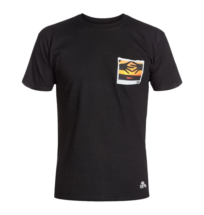 0 Men's Wes Mafia Poloroid Tee  ADYZT03009 DC Shoes