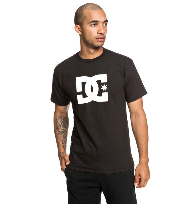 0 Men's DC Star Tee Black ADYZT03119 DC Shoes