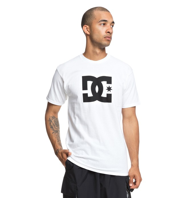 0 Men's DC Star Tee White ADYZT03119 DC Shoes