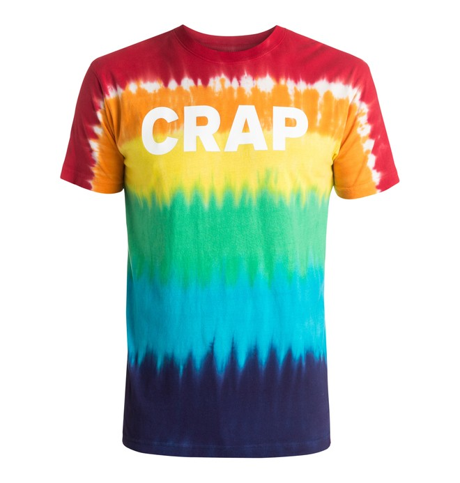 0 Men's Crap Tie Dye Tee  ADYZT03740 DC Shoes