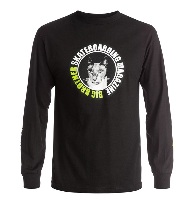 0 Men's Gary Cat Long Sleeve Tee  ADYZT03741 DC Shoes